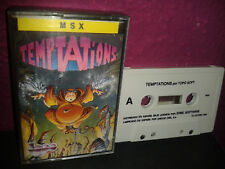 Temptations taupe soft illustration cover 1988 spain version msx Exclusive Complete