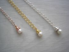 Silver Rose Gold Extension Chain for a Necklace Bracelet Anklet Extender EX63W