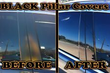 Black Pillar Posts for Daewoo Lanos (2dr) 99-02 4pc Set Door Cover Trim Piano