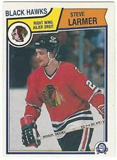 1983-84 OPC HOCKEY #105 STEVE LARMER ROOKIE - VERY GOOD+