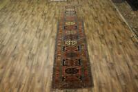 160 Years Old Vegetable Dye Antique 4x16 Caucasian Russian Oriental Runner Rug