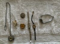 Lot  Of 7 Vintage Wind Up Wristwatches, Timex, Kelton, Focal,Bulova, Kocher, +