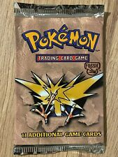 Unlimited 1999 Fossil Factory Sealed Pokemon Booster Box Pack Artwork Design 3