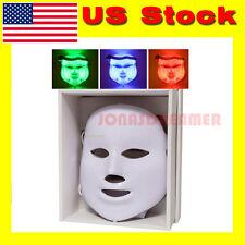 3 color LED Facial Mask Skin Rejuvenation Beauty Photodynamic tender Anti Acne