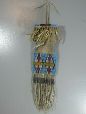 New ListingEarly Primitive 19th Century Native American Indian Beaded Hide Tobacco Bag