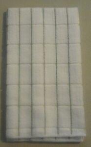 15 X 25 Microfiber Kitchen towel Small Vertical Olive Green Stripes 264386