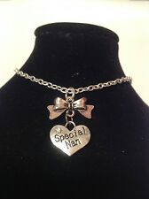 special nan bow anklet silver plated.