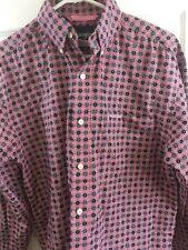 Wrangler Button Down Collar Shirt Long Sleeve Small Rodeo Shirt Pink