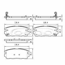 Bremsbelagsatz, Scheibenbremse, Hinterachse für Chevrolet, Opel, BB08229