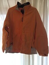 Woolrich Size XL Womens Orange Windbreaker No Liner Spring Coat Jacket