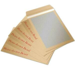 PLEASE DO NOT BEND HARD CARD BOARD BACK BACKED MANILLA ENVELOPES BROWN A4 A5