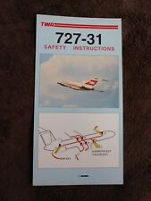 TWA 727 - 31 Safety Instruction Card # 640751