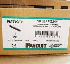 Panduit NK5EPPG24Y 5E 24-Port Flat Punchdown Patch Panel