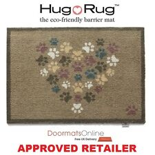 Hug Rug 85x65cm (PET 45) Paws Heart Dirt Trapper Door / Floor Mat Washable