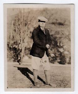1930s ORIGINAL GOLF PHOTOGRAPH Golfing GOLFER Forrestall MAINE Photo PORTLAND