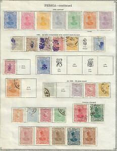POSTES PERSANES 1891 STAMPS COLLECTION NICE CDS