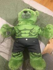 Build A Bear Marvel Avengers Talking Incredible Hulk Bear Plush Costume