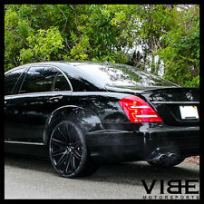 "22"" XO MILAN BLACK CONCAVE WHEELS RIMS FITS MERCEDES W221 S550 S63 S65"