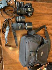 Sony Alpha SLT-A57 16.1MP Digital SLR Camera - Black With Bag And 3 Lenses.