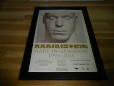 RAMMSTEIN - Made in Germany - PUB ORIGINALE ENCADREE !! ORIG ADVERT FRAMED
