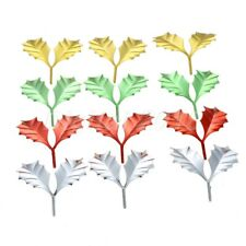 Gold Plated Sheet Blades Plating Artificial Leaves For Christmas Diy Craft Decor