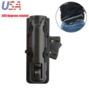 US Expandable ASP Baton Holder Swivelling Pouch Case Holster Plastic+Nylon Black
