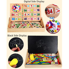 Wooden Montessori Math Toys Digital Stick Learning Box for Preschool Education