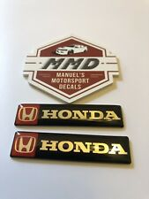 2 X Honda Badge Decals Type R Civic Integra NSX CR-V S2000 City Odyssey Mugen
