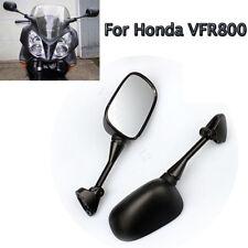 2x Black Rear View Left Right Side Glass Mirror For HONDA VFR 800 VFR800 2002-08