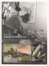 Grenada 2014 MNH Modern Art 3v Adolf Dehn Lithography Central Park 3v M/S Stamps