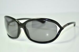 Used Authentic Tom Ford Jennifer Black Gray Butterfly Womens Designer Sunglasses
