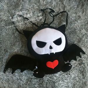 Lolita Skull Bat Cat Plush Backpack Punk Handbag Halloween Doll Messenger Bag
