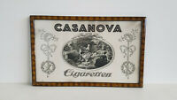 Casanova Cigaretten Plakat im Originalrahmen um 1920 Hersteller F.Donath Dresden