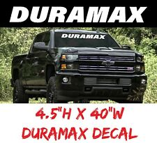 Duramax Decal Diesel, Windshield Graphic Window Custom Chevy Vinyl Art Silverado