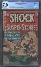 Shock Suspenstories #8 E.C. 1953 CGC 7.0 FN/VF White - Knife Cvr - Atomic Panel
