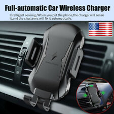 Qi Wireless Car Fast Charger Cell Phone Mount Holder Touch Sensor For iPhone GPS