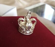 Lovely Solid Silver Royal Crown Bracelet Charm