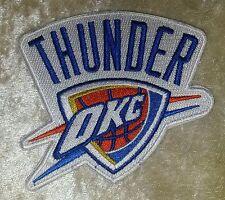 "Oklahoma City OKC Thunder 3.5"" Iron On Embroidered Patch~USA~FREE Ship"