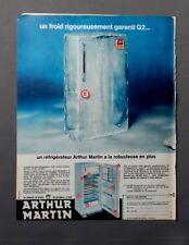 PUB PUBLICITE ANCIENNE ADVERT CLIPPING 260917 REFRIGERATEUR ARTHUR MARTIN PLUS R