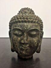 Antique Chinese Sino Tibetan Bronze Buddha Head Shakyamuni Buddhism Statue
