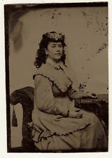 TINTYPE PORTRAIT OF A BEAUTIFUL YOUNG WOMAN