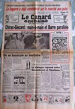 Le Canard Enchainé 30/01/1985; Télés publiques contre futures télés privées
