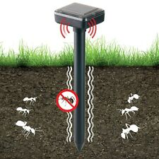 Solar Powered Ultrasonic Panel Grounding Animal Insect Garden Ant Repellent