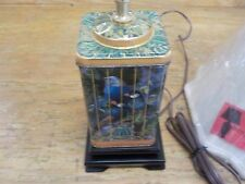 Vintage Birds in Cage Tin Lamp, OPEN BOX