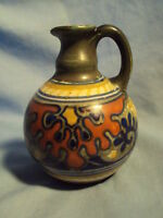 small Vintage GOUDA RHODIAN HOLLAND PITCHER  MOD Art Pottery