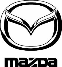"MAZDA EMBLEM w/ TEXT  6"" X 5.5""    VINYL  DECAL  for  $5.99   FREE SHIPPING"