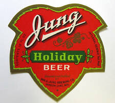 IRTP Wm  G Jung Brewing Co JUNG HOLIDAY BEER label WIS 12oz