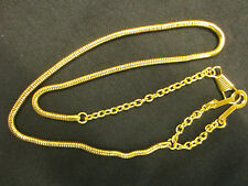 WHISTLE CHAIN WITH BUTTON STYLE HOOK, GOLD PLATED QUALITY