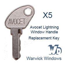 5 x Avocet Lightning Window Handle Replacement Keys