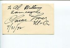 Clarence Long MD Maryland US Representative Congress Signed Autograph
